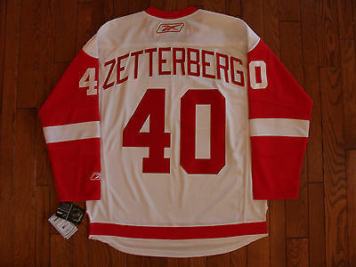 Detroit Red Wings ZETTERBERG #40 Official Reebok Premier Replica Jersey BNWT