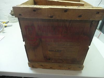 Antique Wooden Egg Shipping Crate with Inserts