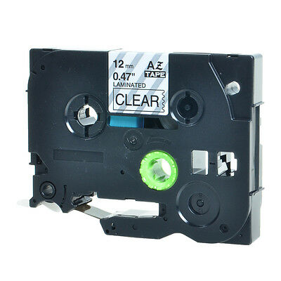 """1PK TZ131 TZe 131 Black on Clear Label Tape For Brother P-Touch PT-350 12mm 1/2"""""""