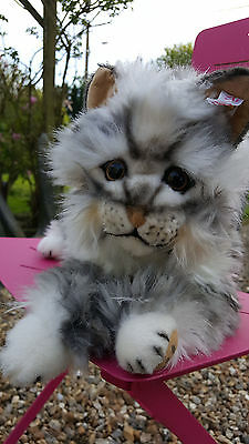 rare!!!! Steiff chat cat Lizzy Main Coon