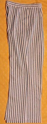 ESTATE Vintage DONNKENNY 70's Pants Bell-bottoms White w/ Blue Stripes Polyester