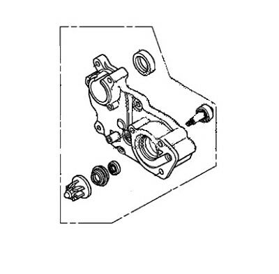 Honda Oem Water Pump Assembly 10 Nhx110 Elite 110 Scooter 2010 19210-Gfm-B20