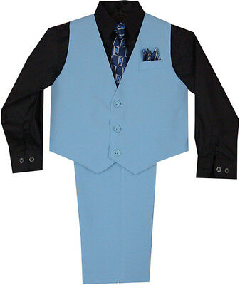 New Baby Boy &Toddler Easter Formal Party Blue Vest Suit 12M 18M 24M
