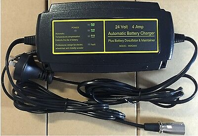 24 Volt 4 AMP Charger for Electric mobility and wheelchairs
