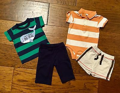 Infant Boys Size 3-6mo Set Of 2 Outfits Multi Brands Shorts & Pants