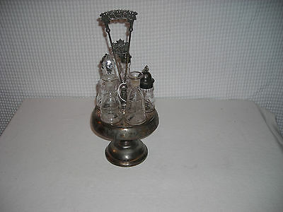 1866c. Middletown Plate Co. #312 Condiment Cruet Set Middletown CT.