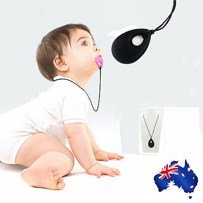 New Angle Tear Silicone Necklace Baby Chewable Silicone Bead BPA Free Black