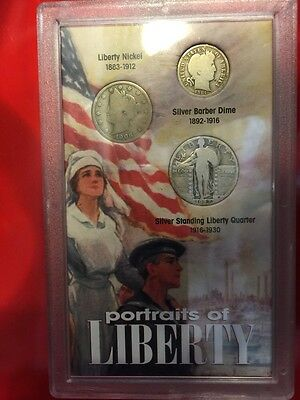 Liberty Coin Portraits of  United States of America Coin Set 1927- 1906 -1914