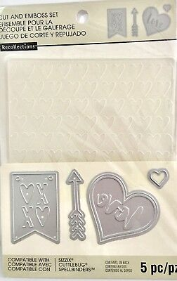 Recollections Die & Embossing Folder Set ~Love 508072