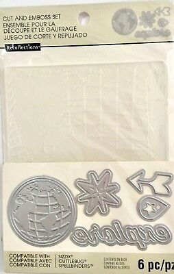 Recollections Die & Embossing Folder Set ~Explore Travel 508071