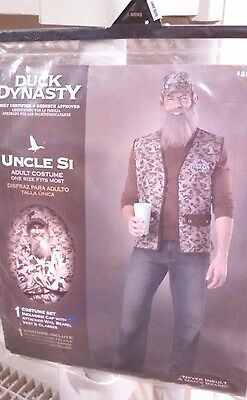 Duck Dynasty Uncle Si Costume Halloween Dress Up Mens One Size