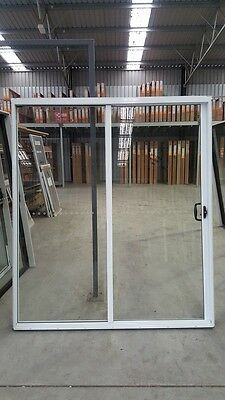 Aluminium Sliding Door 2095mm H x 1810mm W (WHITE)