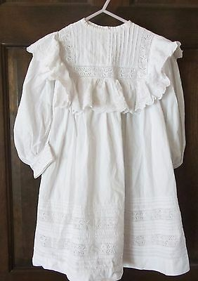 Vintage Victorian White Lace Small Little Girl Dress