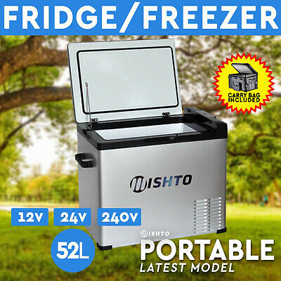 42L Portable Fridge Freezer 12V/24V/240V  Camping Car Boating Caravan Bar Fridge