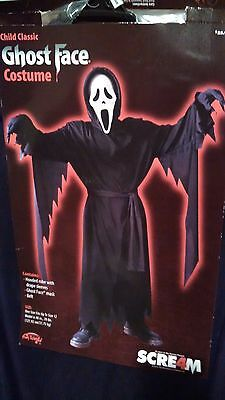 Scream Classic Ghost Face Costume Halloween Child One Size Up To Size 12