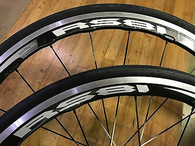Shimano RS81 C35 WHEELSET With Tyres & Tubes NEW! Carbon/Aluminium
