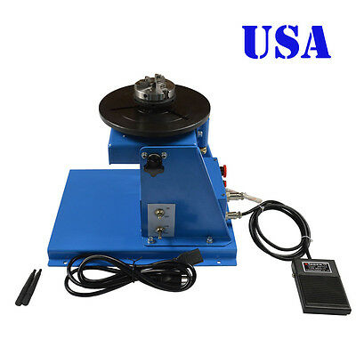 USA Seller! 110V 10KG Light Duty Welding Turntable Positioner with 65mm Chuck