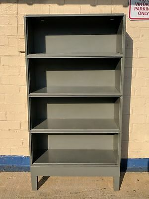 Vintage Steel Jebco Barrister Bookcase Cabinets  - set of 4 with base