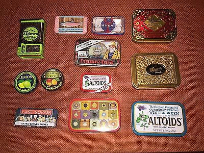 Lot of Assorted Candy Tins