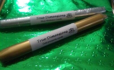 True Dimensions gold and silver candles