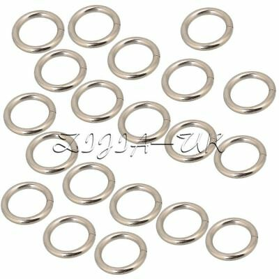 20pcs Silvery Metal O-Ring O Shaped Buckle For Bags Purses Backpack Straps 2cm