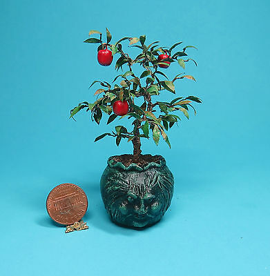 DH Miniature 1:12 POISON APPLE TREE in Sculpted Pot, Witch, Wizard, OOAK IGMA