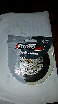 NEW Roto Zip  2 Pack MASONRY Cutting Wheel, Model # RZMAS2