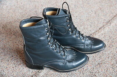 """Laredo """"Made in USA"""" Dress Western Leather Boots Women's Sz. 6.5 M"""