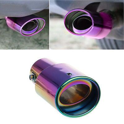 Universal Car Rear Round Exhaust Pipe Tail Muffler Tip Chrome Stainless Steel