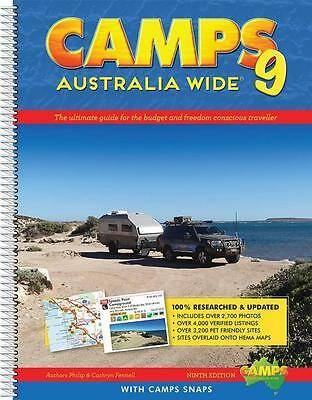 NEW Camps Australia Wide 9 with Camps Snaps By Philip Fennell Spiral Ringed Book