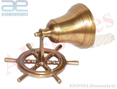 Brand New  Nautical Brass Made Wall Bell / Door Bell Collectables @aud
