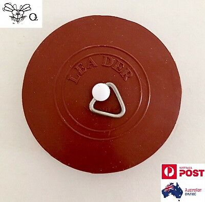 50mm Brown Ring Pull Rubber Plug For Hand Basin Bath Tub Sink