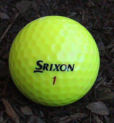 50 Srixon Z Star XV Yellow Excellent Condition Golf Balls