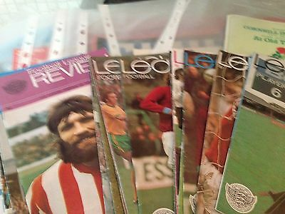 Job lot of Football Programmes and Reviews - Approx 50 in total