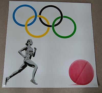 PURE EVIL - OLYMPIC DOPING TEAM  Limited Edition of 200 Signed Print