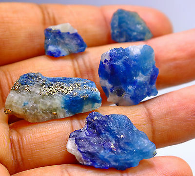 84.05 CT Natural Blue Color Afghanite Rough Stone Lot