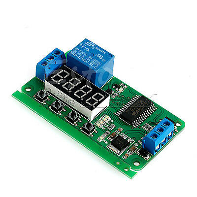 DC12V Multifunction PLC Self-lock Delay Relay Cycle Timer Module Switch Control