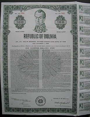 Republic of Bolivia  1968