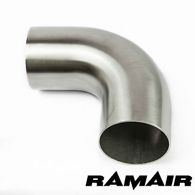 "2.5"" Inch 63mm 90 Degree Mandrel 1D 304 Stainless Steel Exhaust Bend - Pipe tube"