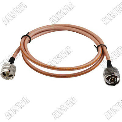 1pcs N-Type male to UHF PL259 Male Connector Adapter RF Pigtail Cable RG400 1M