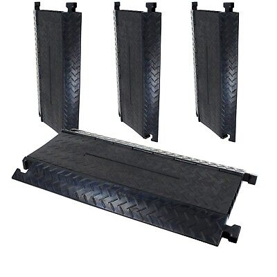 4 Pack 5 Channel 1m Rubber Cable Guard Bridge Protector Load Event Safety Ramp