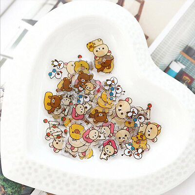 Cute Cartoon Bear Animal Mini Sticker DIY Diary Album Scrapbooking Decoration