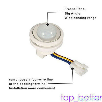 Ceiling Motion Sensor PIR Light Switch Highly Sensitive Intelligent LED Smart TO