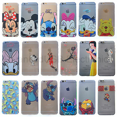 Coque Housse Silicone TPU Ultra-Fine Blanc comme neige Disney Pour iPhone 5/6S/7