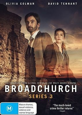 Broadchurch: Series Season 3 (DVD, 2017, 3-Disc Set), NEW SEALED REGION 4