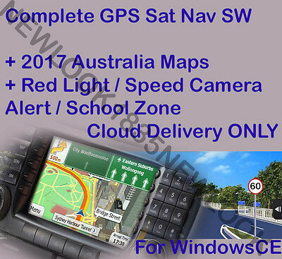 iGO9 GPS SAT NAV Software for WINCE + 2017.Q1 AUSTRALIA MAP download only