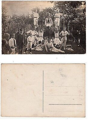 Turner Jungen Turn-Verein young boys from German sport club  RPPC Foto 1910