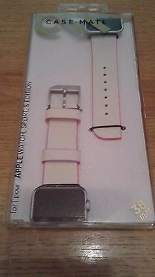 Case Mate Apple Watch, Sport & Edition 38mm Band ( Ivory/Pink) )
