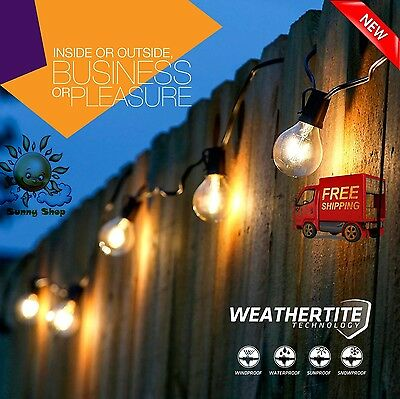 Patio Globe String Lights 48ft Led Outdoor Waterproof Commercial Grade Patio  Globe String
