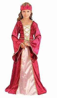 Renaissance Queen Children's Costume Medieval Fancy Dress Outfit